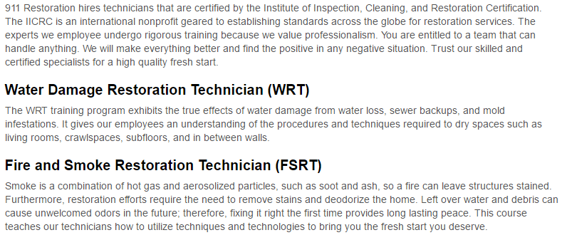 911 Restoration of Central New York Certification Page