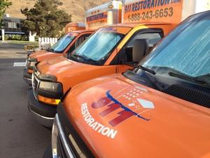 Water Damage East Syracuse Vans Parked