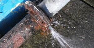 Water Damage Pipe Burst Outside